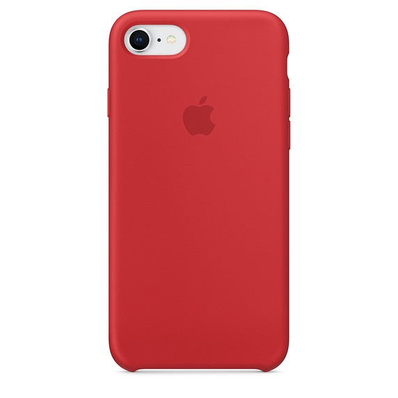 Оригінальний iPhone 8 / 7 Silicone Case — (PRODUCT) RED