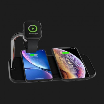Безпровідна зарядка Zens Dual Aluminium Wireless Charger + Apple Watch 10W Black (ZEDC05B/00)