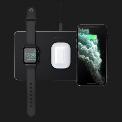 Бездротова зарядка Satechi Trio Wireless Charging Pad для iPhone, AirPods Pro, Apple Watch