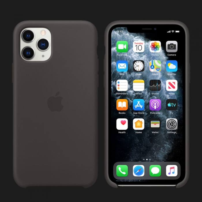 iPhone 11 Pro Max Silicone Case-Black (Original Assembly)