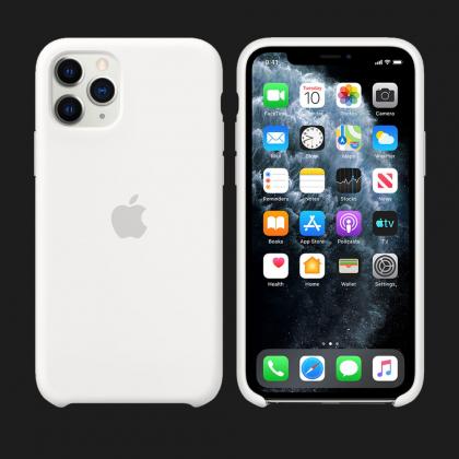 iPhone 11 Pro Max Silicone Case-White
