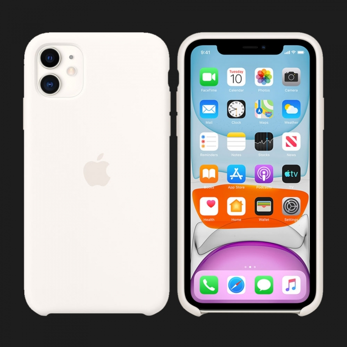 iPhone 11 Silicone Case-White (Original Assembly)
