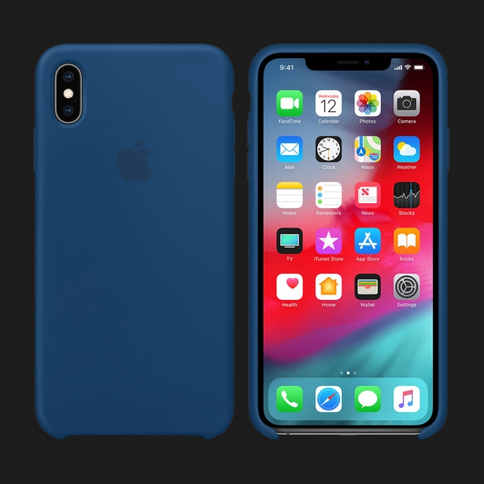 iPhone XS Silicone Case — Blue Horizon (Original Assembly)