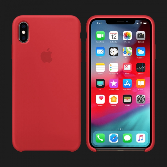 iPhone XS Silicone Case — (PRODUCT) RED (Original Assembly)
