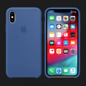 iPhone XS Silicone Case — Delft Blue (Original Assembly)