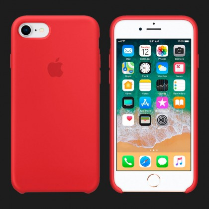 Silicone Case for iPhone 8 / 7 Silicone Case — (PRODUCT) RED (Original Assembly)