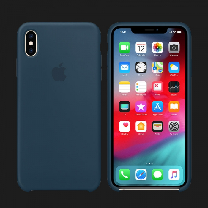 iPhone XS Max Silicone Case — Pacific Green (Original Assembly)