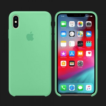 iPhone XS Max Silicone Case — Spearmint (Original Assembly)