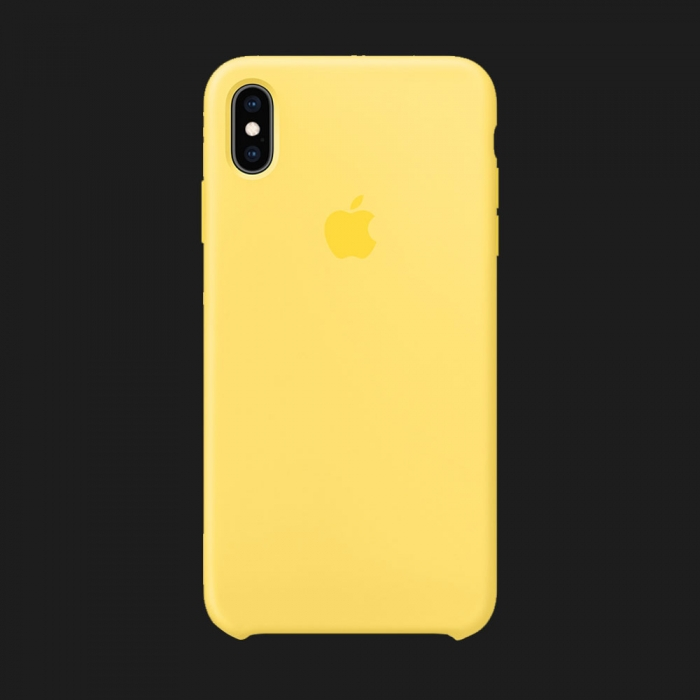 iPhone XS Max Silicone Case — Canary Yellow (Original Assembly)