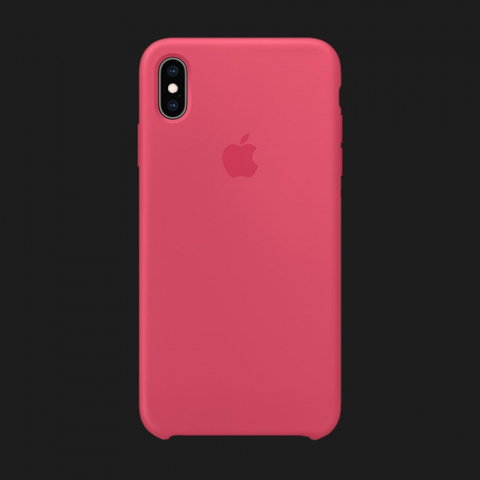 iPhone XS Max Silicone Case — Hibiscus (Original Assembly)