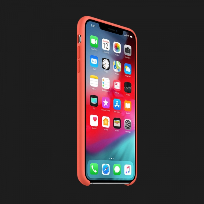 iPhone XS Max Silicone Case — Nectarine (Original Assembly)