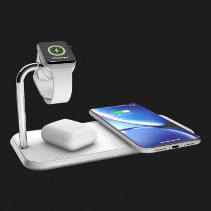 Беспроводная зарядка Zens Dual Aluminium Wireless Charger + Apple Watch 10W White (ZEDC05W/00)