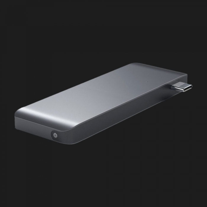 Адаптер Satechi Type-C USB 3.0 Passthrough Hub Space Gray (ST-TCUPM)
