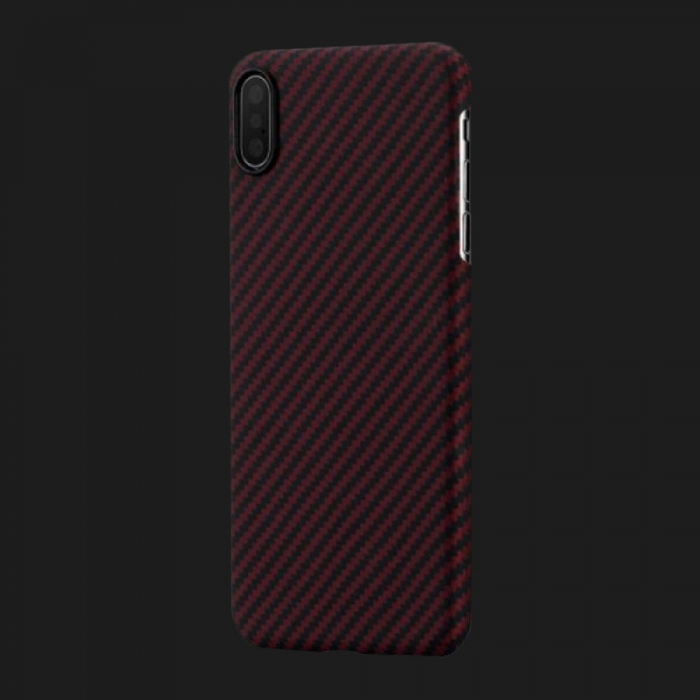 Pitaka Aramid Case for iPhone XS Max (Black / Red)