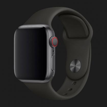 Оригінальний спортивний ремінець для Apple Watch 40mm Black Sport Band - S/M - M/L (MJ4F2)