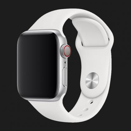 Оригінальний спортивний ремінець для Apple Watch 40mm White Sport Band - S/M - M/L (MJ4E2 / MTP52)
