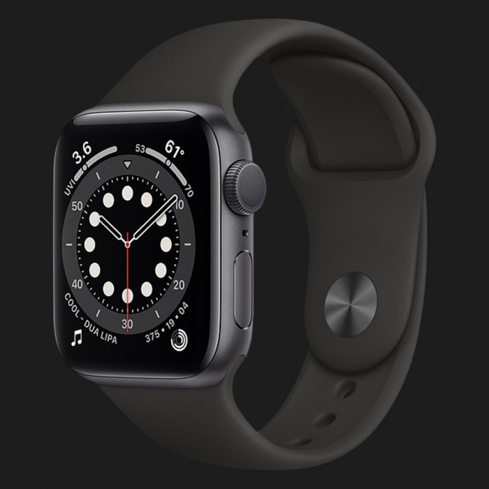Apple Watch Series SE 44mm Space Gray with Black Sport Band (MYDT2)