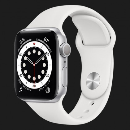 Apple Watch Series 6 40mm Silver Aluminum Case with White Sport Band (MG283)