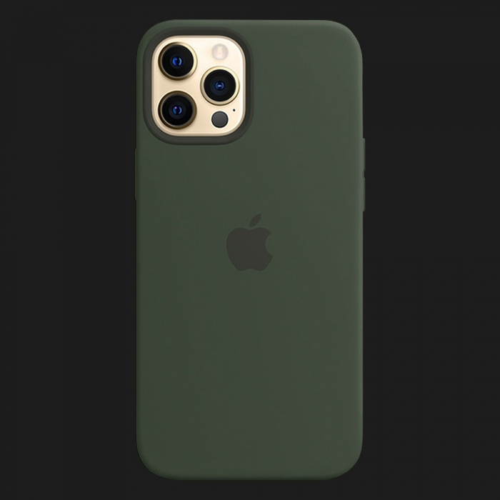 iPhone 12 Pro Max Silicone Case with MagSafe - Cyprus Green