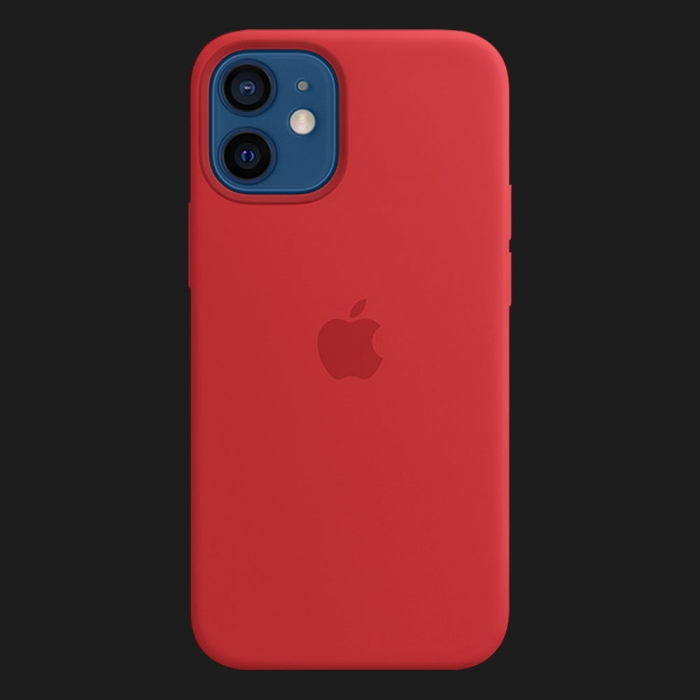 iPhone 12 Silicone Case with MagSafe - (PRODUCT)RED