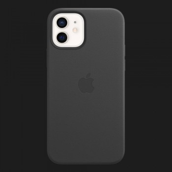 Apple Leather Case для iPhone 12 mini — Black