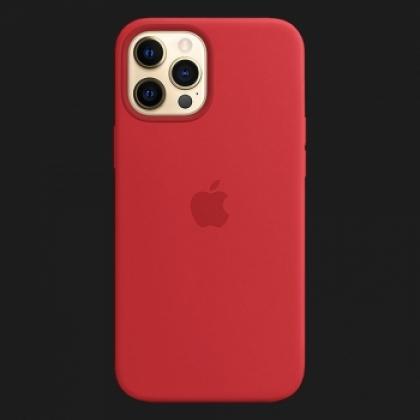 iPhone 12 Pro Max Silicone Case — (PRODUCT)RED (Original Assembly)