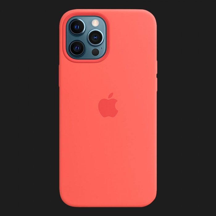iPhone 12 Pro Max Silicone Case — Pink Citrus (Original Assembly)