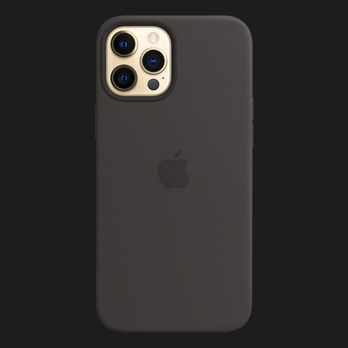 iPhone 12 Pro Max Silicone Case — Black (Original Assembly)