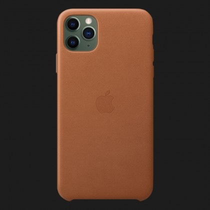 Apple Leather Case для iPhone 11 Pro Max — Saddle Brown