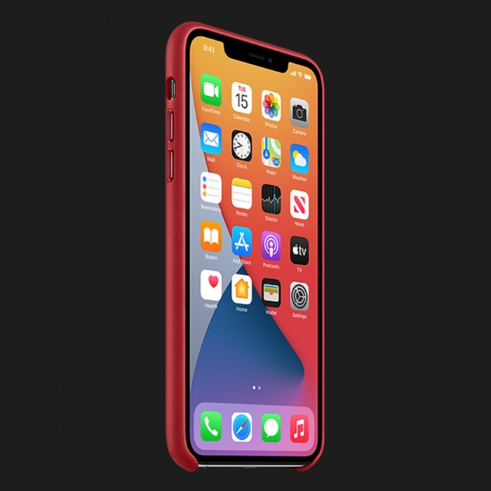 Apple Leather Case для iPhone 11 Pro — (PRODUCT)Red
