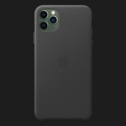 Apple Leather Case для iPhone 11 Pro — Black