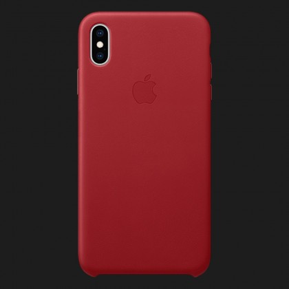 Apple Leather Case для iPhone XS — (PRODUCT)Red