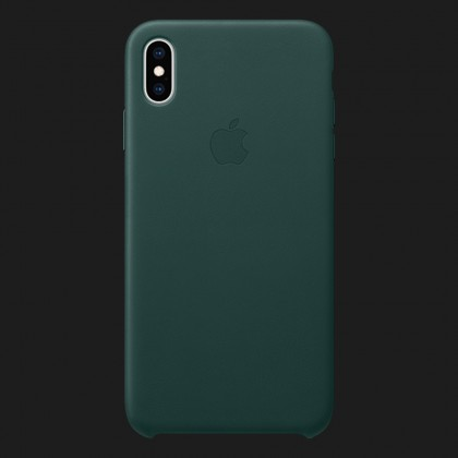 Apple Leather Case для iPhone XS — Forest Green