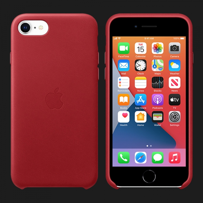 Apple Leather Case для iPhone 7 / 8 — (PRODUCT)Red