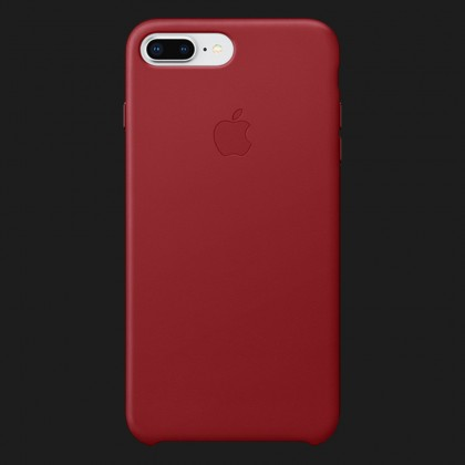 Apple Leather Case для iPhone 7 Plus / 8 Plus — (PRODUCT)Red