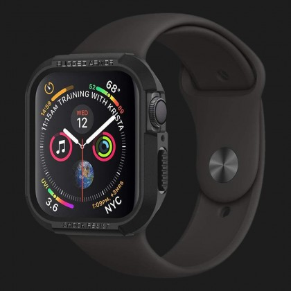 Чохол Spigen Rugged Armor для Apple Watch 44 mm (Black)