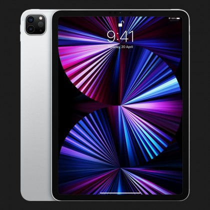 Планшет Apple iPad Pro 11 2021, 128GB, Silver, Wi-Fi + LTE (MHW63)