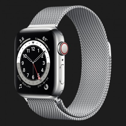 Apple Watch Series 6 44mm Silver with Silver Milanese Loop (M07M3, M09E3)