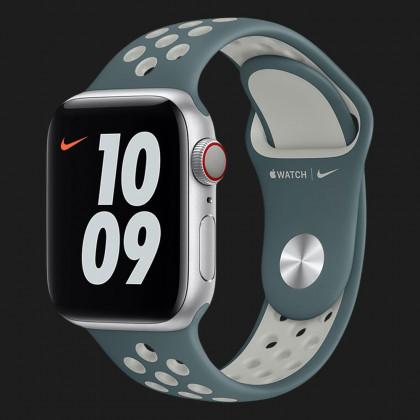 Оригінальний ремінець для Apple Watch 38/40 mm Nike Sport Band (Hasta / Light Silver) (MJ6G3)