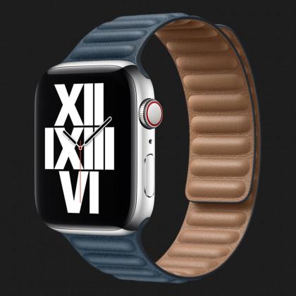 Оригінальний ремінець для Apple Watch 38/40 mm Leather Link (Baltic Blue) (MY992/MY982)