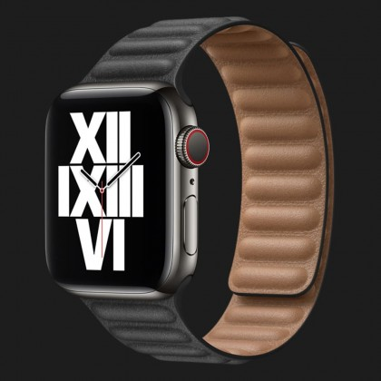 Оригінальний ремінець для Apple Watch 38/40 mm Leather Link (Black) (MY9A2/MY9C2)
