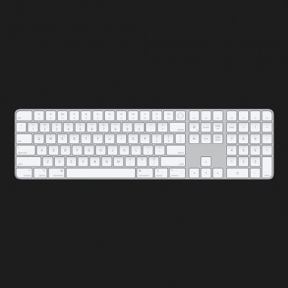 Полноразмерная клавиатура Apple Magic Keyboard with Touch ID and Numeric Keypad Silver (MK2C3)